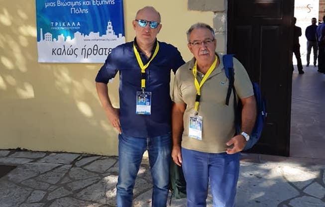 Ο Πρόεδρος του Δ.Σ Σκοπέλου κ. Ξηντάρης μαζί με τον Ηλεκτρονικό κ Αμπελάκια