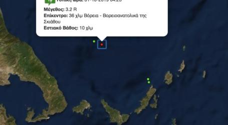 Σεισμός 3,2 ρίχτερ βόρεια των Σποράδων [χάρτης]