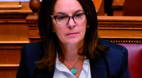 Ερώτηση της Κατερίνας Παπανάτσιου για τις ελλείψεις εκπαιδευτικού προσωπικού στη Μαγνησία