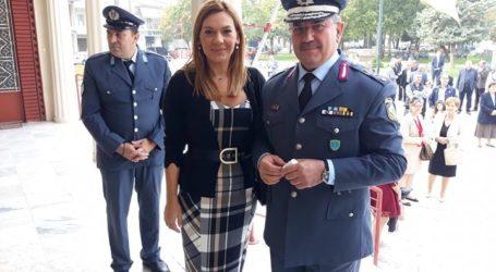 Στους εορτασμούς για την «Ημέρα της Αστυνομίας» η Στέλλα Μπίζιου