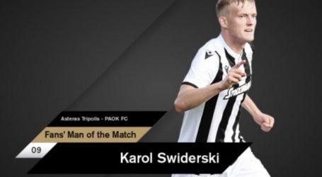 MVP και με διαφορά ο Σφιντέρσκι στην Τρίπολη – Ποδόσφαιρο – Super League 1 – Π.Α.Ο.Κ.