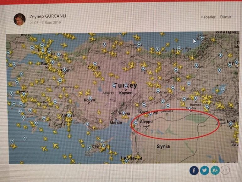 Χάρτης που δείχνει την απαγορευμένη ζώνη για τις πτήσεις