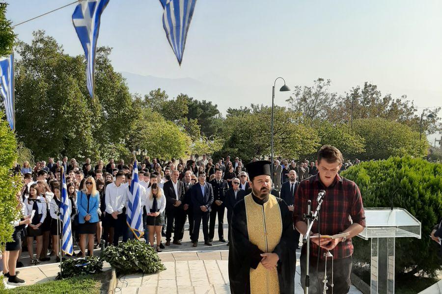 Στις εκδηλώσεις για τους εορτασμούς της 28ης Οκτωβρίου στο Δήμο Τεμπών ο Γιώργος Μανώλης