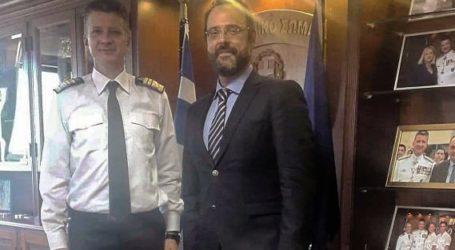Συνάντηση γνωριμίας του Κωνσταντίνου Μαραβέγια με το νέο αρχηγό Λιμενικού Σώματος