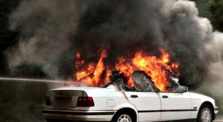 Φωτιά σε αυτοκίνητο στην Εγνατία Οδό