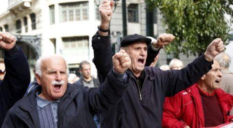 Συγκέντρωση διαμαρτυρίας των συνταξιούχων στην πλατεία Κοτζιά