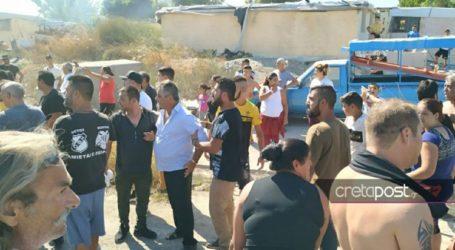 Ένταση και λιποθυμίες στον καταυλισμό των Ρομά