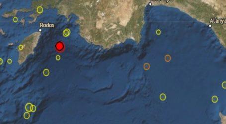 Σεισμός 5R ανοιχτά της Ρόδου