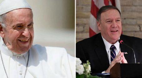 Συνάντηση Πάπα – Πομπέο για τα δικαιώματα των χριστιανικών μειονοτήτων στη Μέση Ανατολή