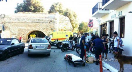 Τρεις τραυματίες σε τροχαίο στην παλιά πόλη Χανίων