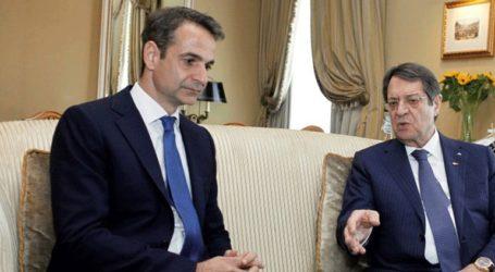 Τηλεφωνική επικοινωνία Μητσοτάκη – Αναστασιάδη για τις τουρκικές προκλήσεις