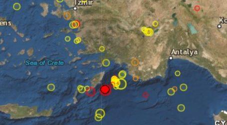 Σεισμός 4,7R ανοιχτά της Ρόδου
