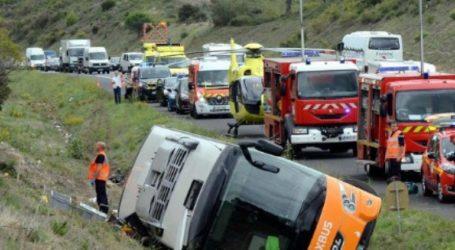 Ανατροπή λεωφορείου με έναν νεκρό και 17 τραυματίες στη Γαλλία