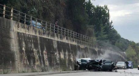 Τροχαίο δυστύχημα στην εθνική οδό Πατρών
