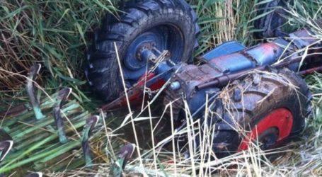 Νεκρός αγρότης που έπεσε με το τρακτέρ του σε γκρεμό