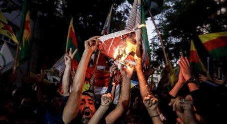 Πορεία διαμαρτυρίας ενάντια στην τουρκική εισβολή στην Συρία