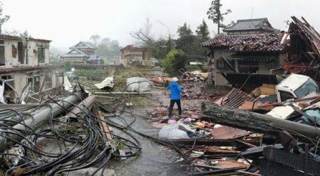 Εικόνες αποκάλυψης στην Ιαπωνία από τον τυφώνα Χαγκίμπις