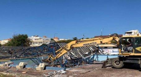Κατεδαφίστηκε το παλιό κολυμβητήριο Αλεξανδρούπολης