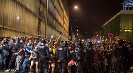 Εκτεταμένα επεισόδια στη Βαρκελώνη μετά την πορεία εναντίον της καταδίκης των Καταλανών πολιτικών