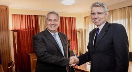 Συνάντηση Βορίδη με τονΑμερικανό πρέσβη με θέμα τους δασμούς σε προϊόντα
