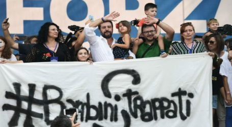 Συγκέντρωση δεξιών και ακροδεξιών κομμάτων στη Ρώμη, εναντίον της κυβέρνησης