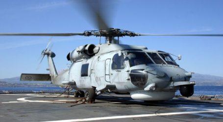 Αερομεταφορά ασθενούς από κρουαζιερόπλοιο με ελικόπτερο του Πολεμικού Ναυτικού