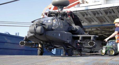 Έφτασαν τα ελικόπτερα Apache και εξοπλισμός της 3ης ταξιαρχίας Στρατού των ΗΠΑ