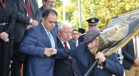 Ο 97χρονος Αντώνης Αλεξανδρής, ο τελευταίος ήρωας της Λέσβου, στην παρέλαση για την 28η Οκτωβρίου