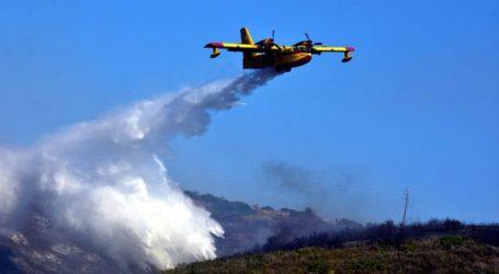 Μάχη με τις φλόγες για 4η μέρα σε βουνό της Πέλλας