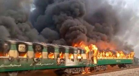 Τουλάχιστον 10 νεκροί από πυρκαγιά σε τρένο