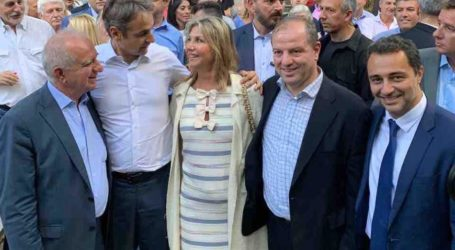 Στα εγκαίνια της νέας μονάδας του Μυτιληναίου με τον Κυρ. Μητσοτάκη η Ζέττα Μακρή