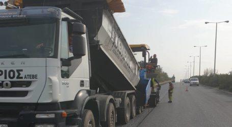 Βόλος: Συνεχίζονται οι εργασίες ασφαλτόστρωσης στην οδό Λάρισης