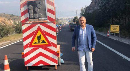 Τα έργα στην οδό Λαρίσης επιθεώρησε ο Κώστας Χαλέβας