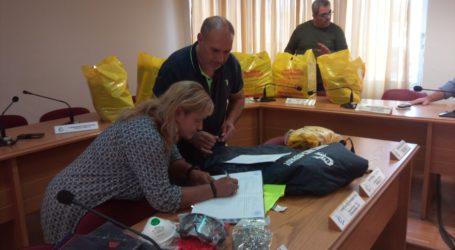 Είδη ατομικής προστασίας στις σχολικές καθαρίστριες του Δήμου Ρήγα Φεραίου