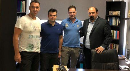 Με τους πυροσβέστες του Βόλου συναντήθηκε ο Χρήστος Τριαντόπουλος