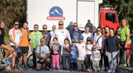 Οι αθλητές του Συλλόγου Μαραθωνοδρόμων Νομού Λάρισας καθαρίζουν την κοίτη του Πηνειού