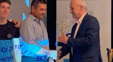 Βράβευση του πρωταθλητή Ελλάδος στην χιονοδρομία Ε.Ο.Σ. Βόλου στις ανοιχτές επιτροπές