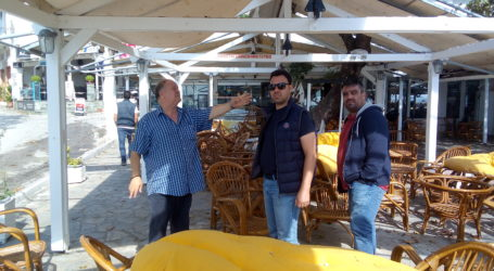 Τις χαλαζόπληκτες περιοχές της Σκοπέλου επισκέφθηκε κλιμάκιο της Λαϊκής Συσπείρωσης