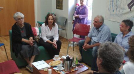Το ΚΕΘΕΑ στον Βόλο επισκέφθηκε η Κατερίνα Παπανάτσιου