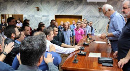 Δήμος Λαρισαίων: Ορκίστηκαν οι πρώτοι επιτυχόντες της προκήρυξης 3Κ