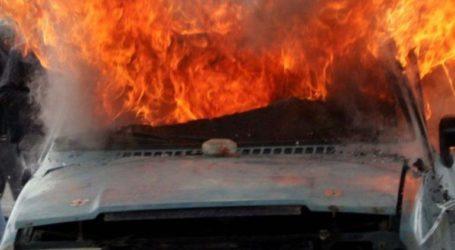 Φωτιά σε αγροτικό όχημα στον Αλμυρό