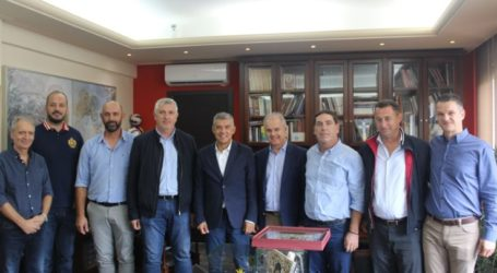 Με το νέο Δήμαρχο Τεμπών Γιώργο Μανώλη συναντήθηκε ο Περιφερειάρχης Θεσσαλίας