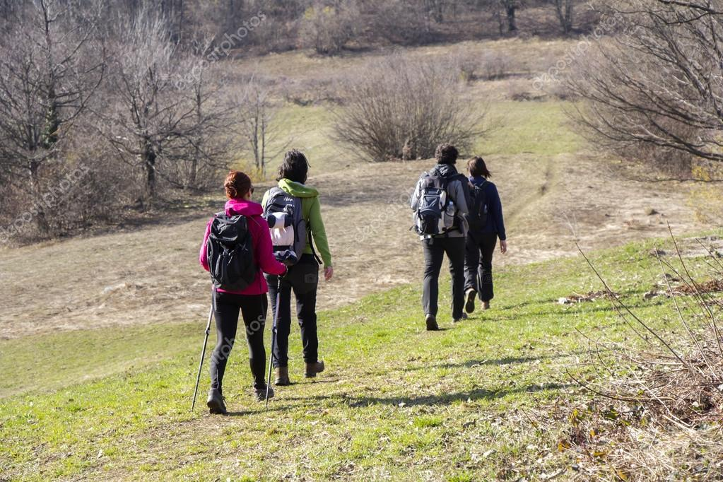 depositphotos 69185071 stock photo hikers walking