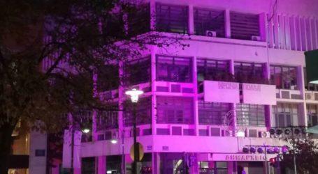 Ο Σύλλογος Καρκινοπαθών Λάρισας στην εκστρατεία για την πρόληψη του καρκίνου του μαστού – Φωταγωγήθηκαν κτήρια της πόλης