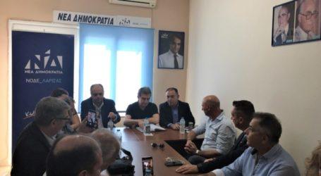 Κέλλας στη ΝΟΔΕ Λάρισας, παρουσία Χρυσοχοΐδη: Αποδεικνύουμε ότι πλέον υπάρχει κράτος παντού