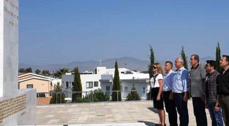 Νασιακόπουλος: «Ο Τύμβος της Μακεδονίτισσας στη Λευκωσία αποτελεί πηγή έμπνευσης για συστράτευση στο δίκαιο αγώνα των Κυπρίων»