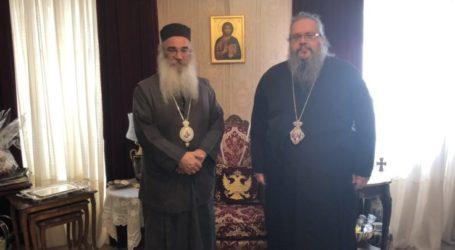 Επίσκεψη Αρχιεπισκόπου Μαδάβων στον Μητροπολίτη Λαρίσης και Τυρνάβου