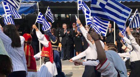 Χαρακόπουλος μετά την παρέλαση στη Λάρισα: Ισχυρές Ένοπλες Δυνάμεις και ενεργοποίηση απόδημου ελληνισμού