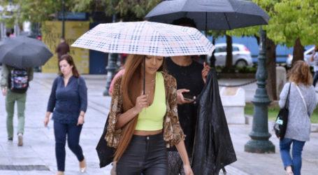 Καιρός: Συνεχίζονται οι βροχές και οι καταιγίδες στη Λάρισα