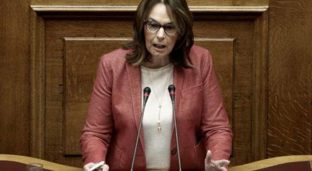 Στη Βουλή από την Κ. Παπανάτσιου η υποχρηματοδότηση της 5ης ΥΠΕ
